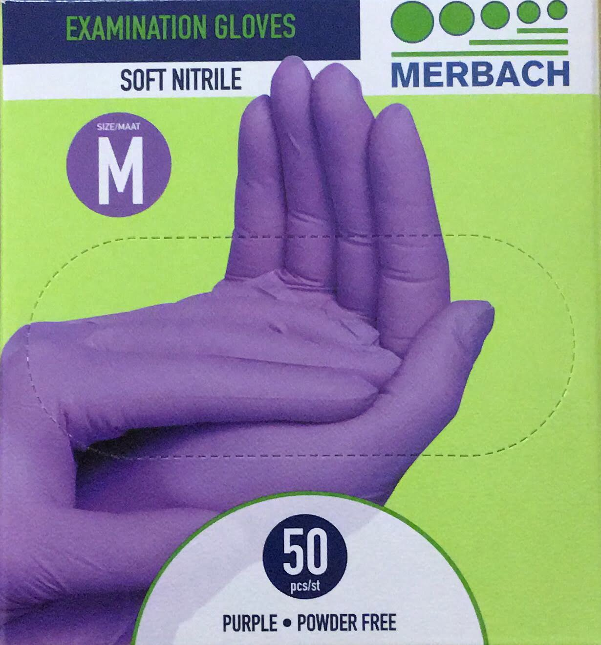 Merbach Soft-nitril Pv Paars M 50st Hands