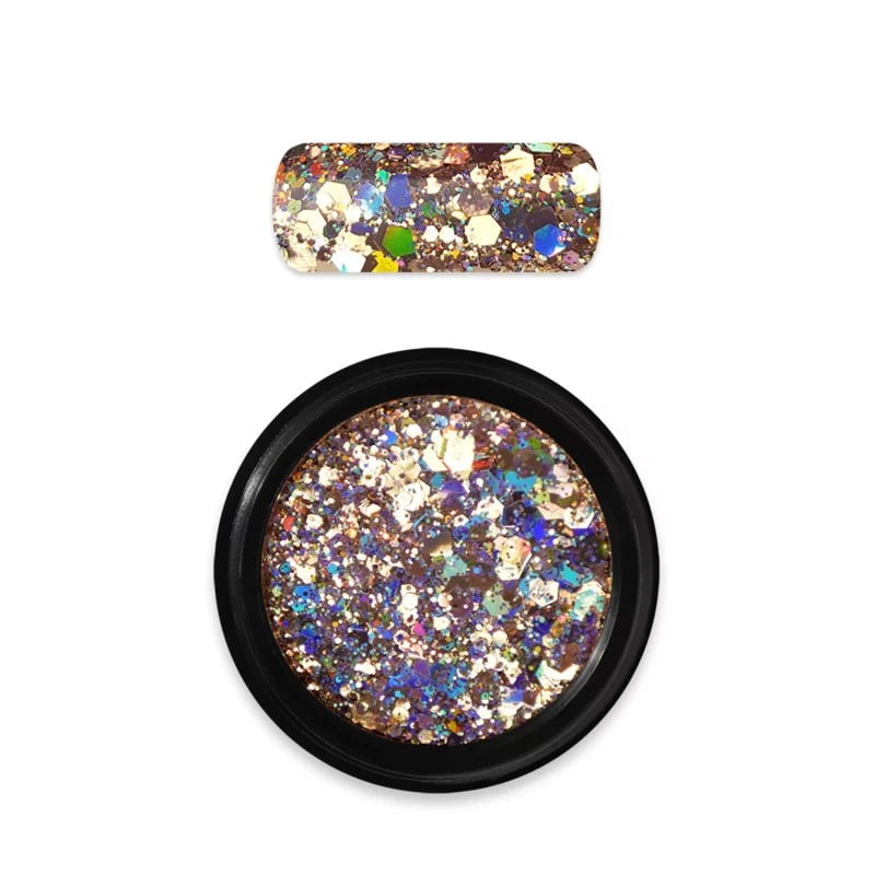 Moyra Rainbow Holo Glitter Mix Gold