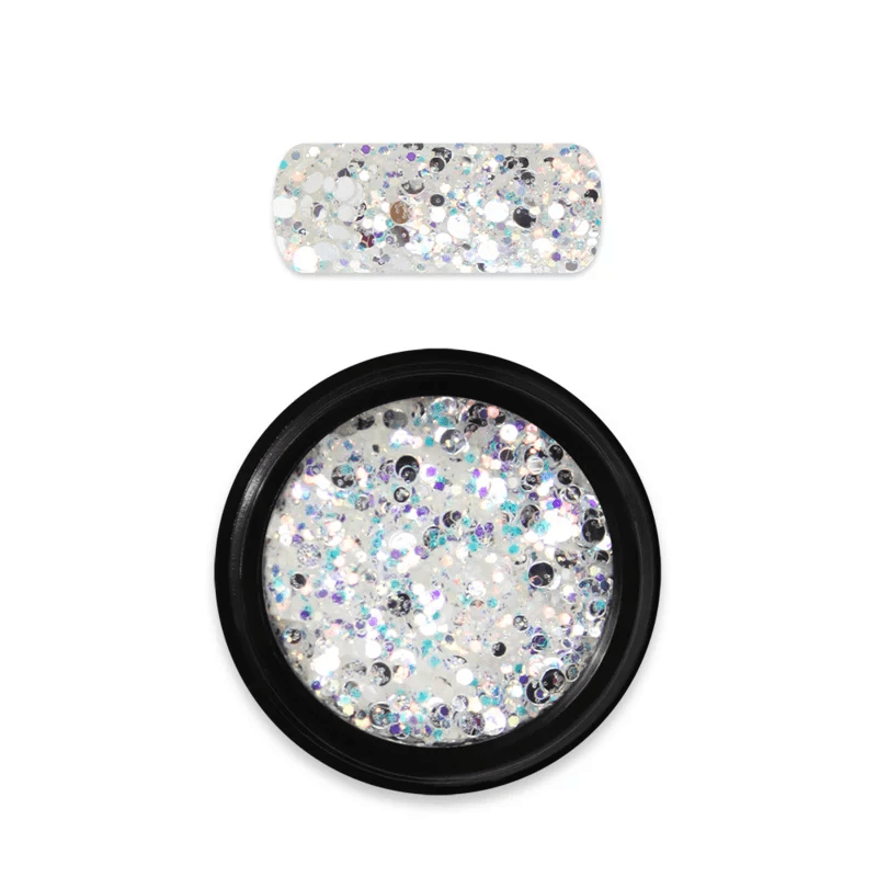 Moyra Rainbow Holo Glitter Mix 5. White