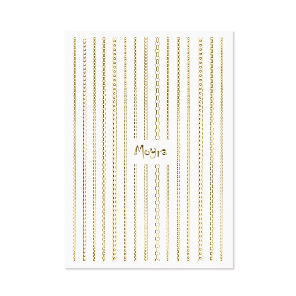 Moyra Nail Art Strips Chain No.01 Gold