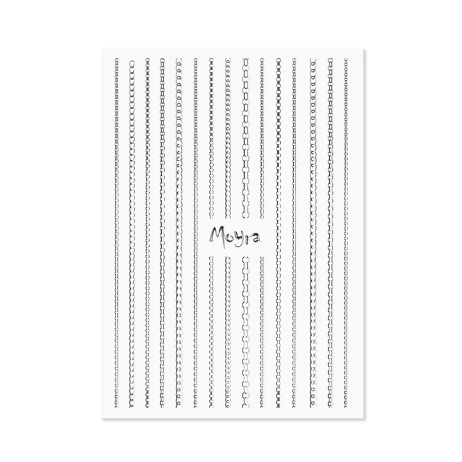 Moyra Nail Art Strips Chain No.02 Silver