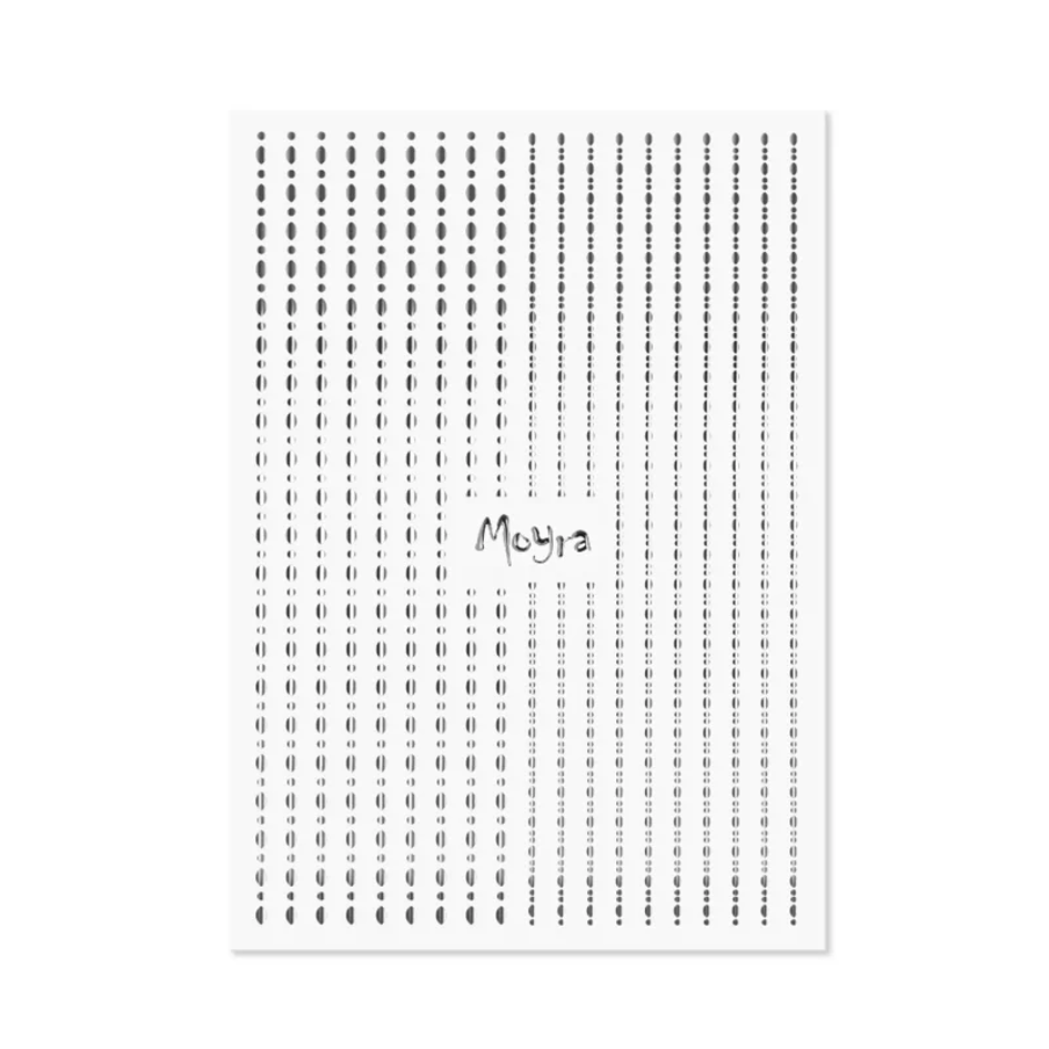 Moyra Nail Art Strips Dots No.02 Silver