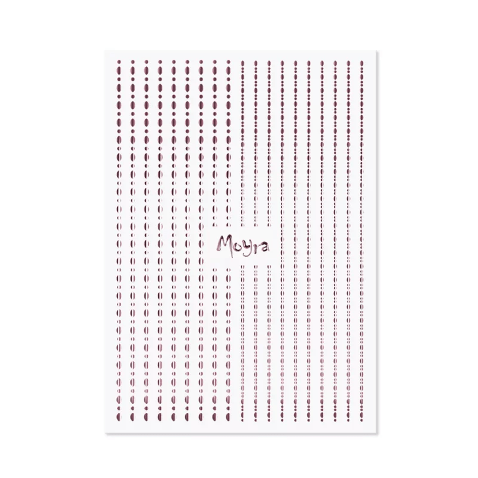 Moyra Nail Art Strips Dots No.03 Rose Gold