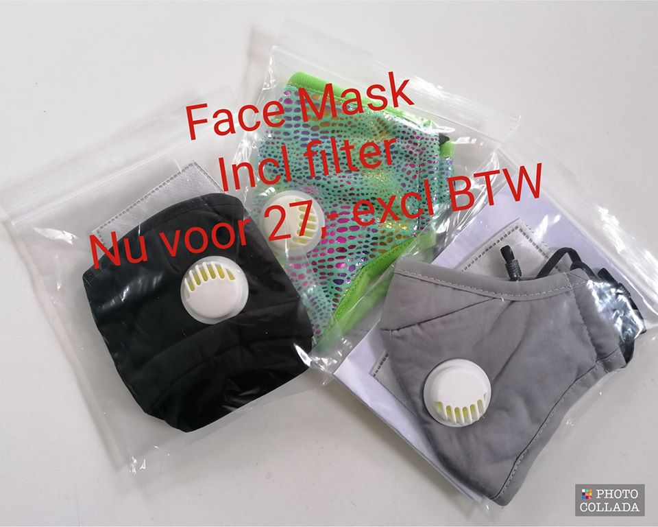 Face Mask 3 Stuks Incl Filter