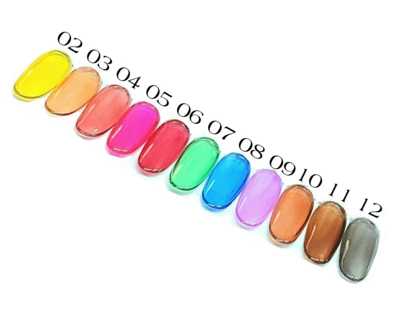 PNS Glass Gel Polish Set No. 02 T/m 12 VOORDEELSET